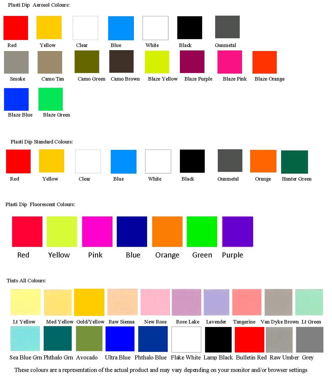 Spray Can Colors For Cars