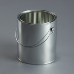 4 Ltr Empty Metal Can c/w Lid