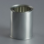 1 ltr Empty Can Metal c/w Lid